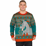 Unicorn Candy Canes and Star Dust Ugly Christmas Sweater