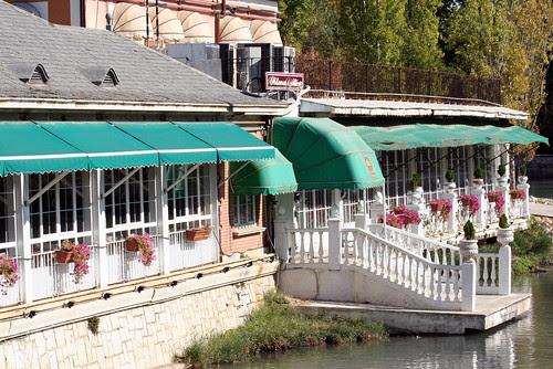 embarcadero en el río Tajo a su paso por Aranjuez