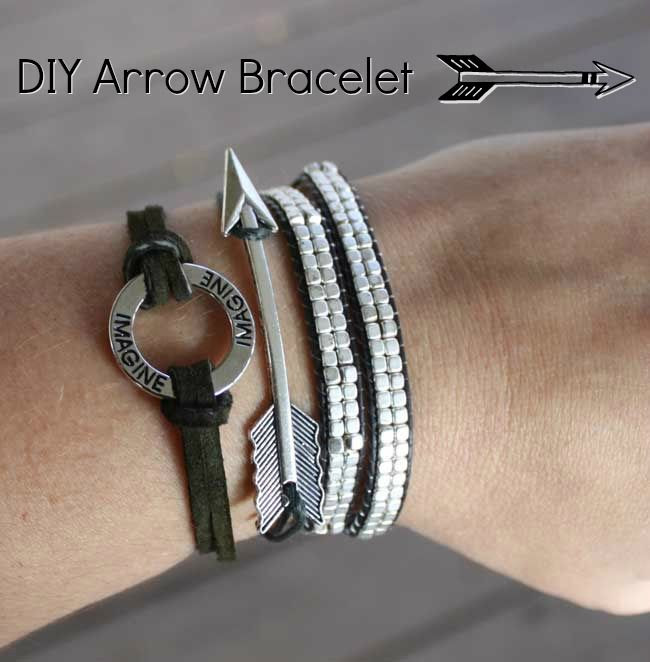 DIY Arrow Bracelet - easy DIY bracelet with full tutorial