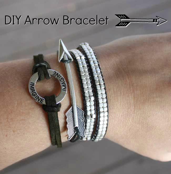 DIY Arrow Bracelet - easy DIY bracelet with full tutorial