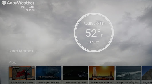 "AccuWeather Introduces Android TV App With ""Superior Accuracy"" 