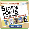 Get 5 DVDs for 49 cents each with membership!