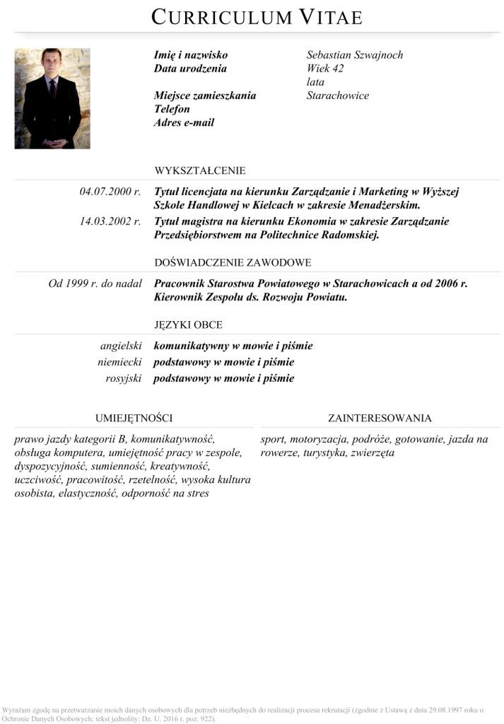 Starachowice Net Kandydat Na Prezydenta Miasta Sebastian Szwajnoch