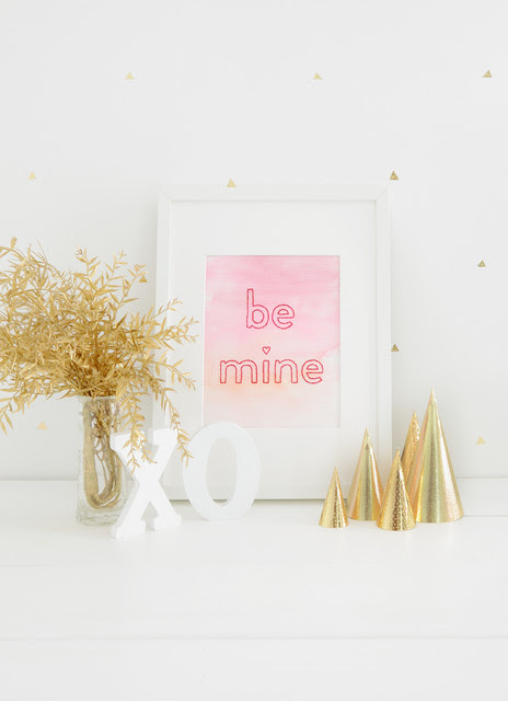 DIY: Ombre Watercolor Wall Art for Valentine's Day