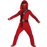 Boys Red Fire Ninja Classic Halloween Costume