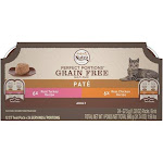 Nutro Perfect Portions Grain Free Turkey Pate and Chicken Pate Wet Cat Food Tray Variety Pack
