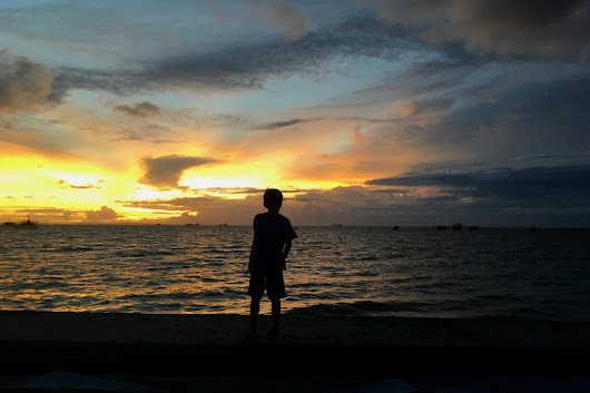 Sunset Today, The Sea, And Family - Nothing Could Be Better | Mea in Bacolod