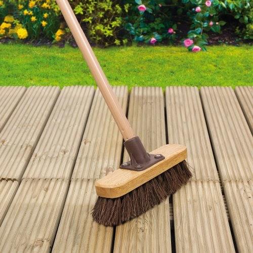Garden decking deck scrub broom for Garden decking rope fittings