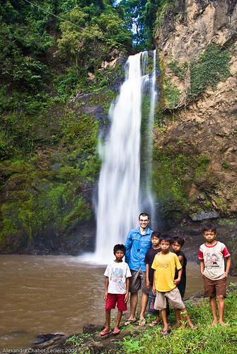 Waterfall, kids and me