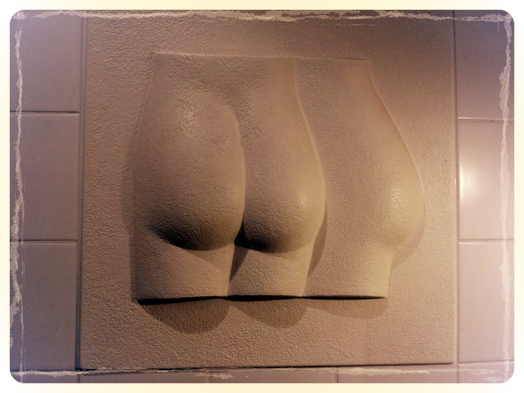 Bum Cheeks Sculpture  at St David's Hotel and Spa