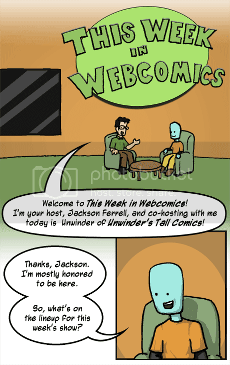 Jackson Ferrell introduces his guest host, Unwinder, for This Week in Webcomics