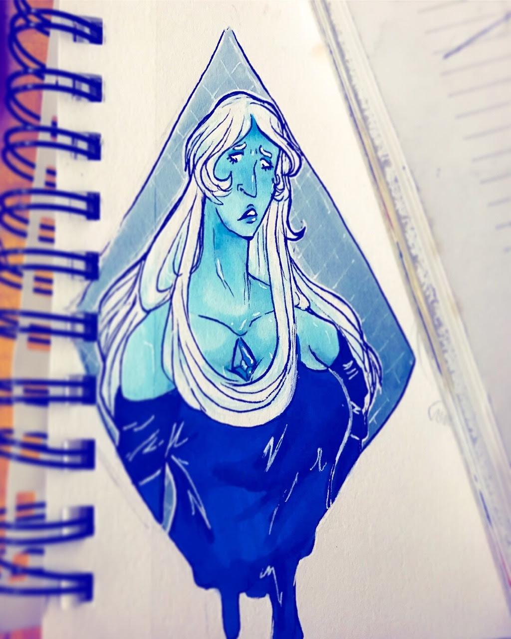 blue doodle 💎💧💙