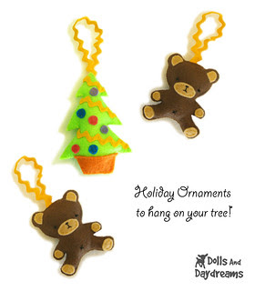 Christmas ornaments to hang on your tree sewing pattern  copy