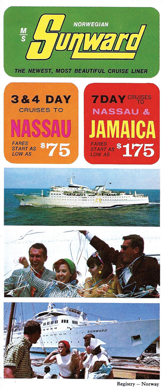 A 1968 ad for the Sunward, with a seven-day price starting at $175.