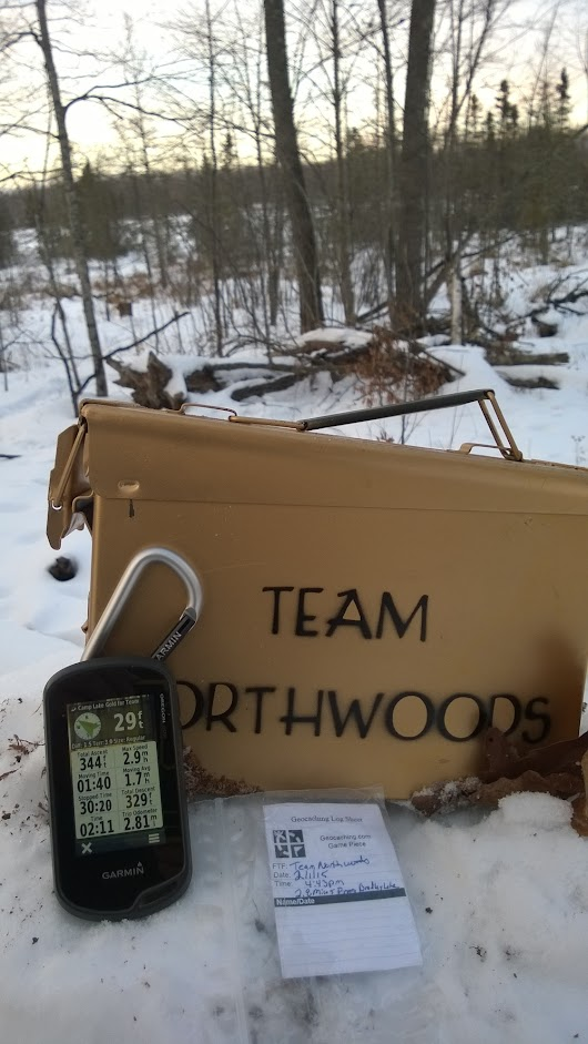 The Geocache That Almost Killed Me! Camp Lake Gold for Team Northwoods