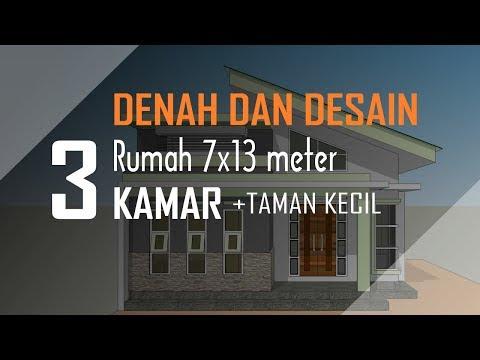 denah rumah ukuran tanah 7x14 meter - berbagai ukuran