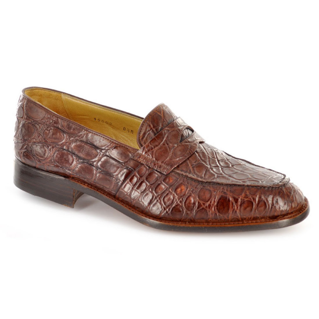 Gravati Men's Shoes Genuine Crocodile Penny Loafer 15009C ...