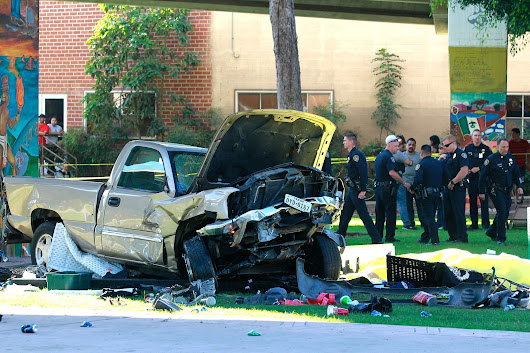 4 dead as pickup plunges off Coronado bridge, lands in Chicano Park