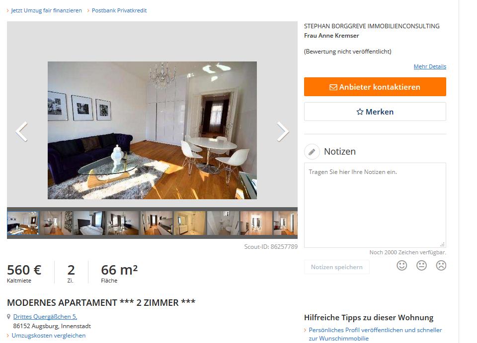 wohnungsbetrug.blogspot.com: Vorkassebetrüger im gehackten Makler-Account auf Immobilienscout24 ...