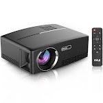 Pyle Compact Digital Projector, HD 1080p Support, Built-In Speakers, HDMI/USB/VGA PRJG98