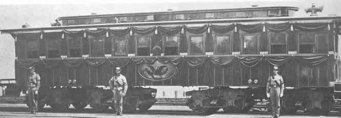 Lincoln's Funeral Car: A National Parks Service Photo.