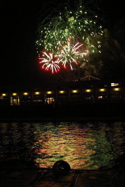 New Year night scene firework with Vivitar 24mm f/2.8 Manual