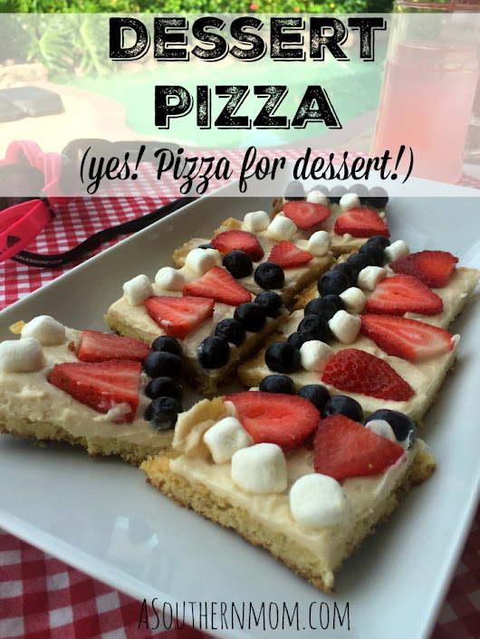 All Pizza, All Night - Dessert Pizza Recipe #RealTasteForRealLife - A Southern Mom