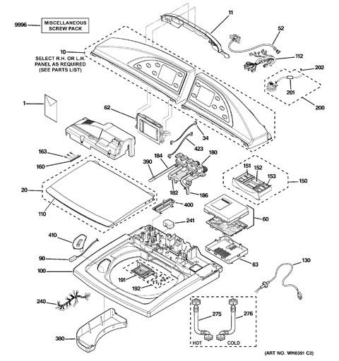 32 Ge Profile Washing Machine Parts Diagram