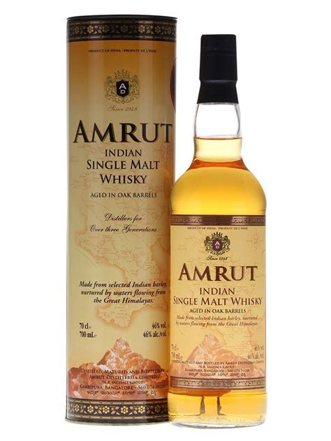 Amrut Indian Single Malt   70cl 46%