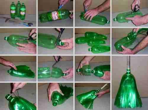 Σκούπα από πλαστικό μπουκάλι