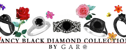 Jewelry by Garo NYC | Blue Diamond Engagement Rings | Vintage Black Gold Rings | Stud Earrings