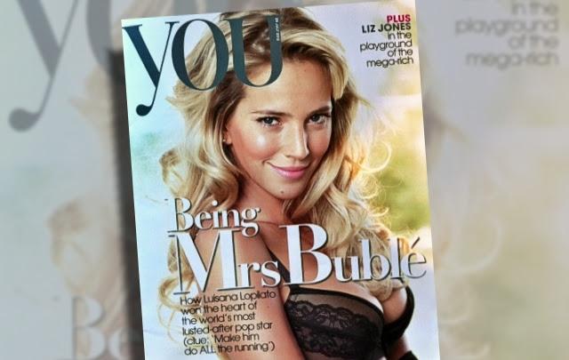 "La belleza de Luisana Lopilato llegó a la portada de la revista inglesa ""You"""
