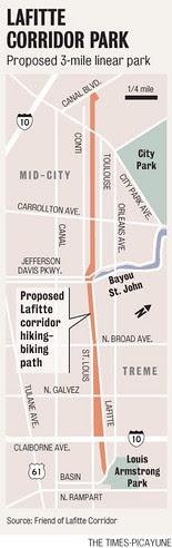 Lafitte Corridor Map