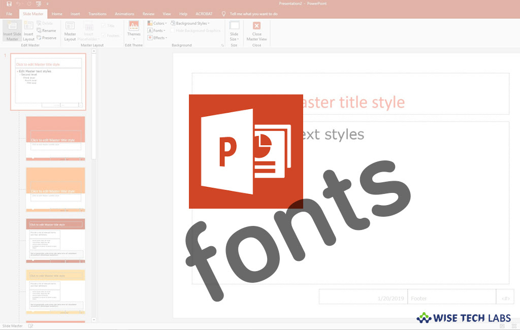 How To Change The Default Font In Powerpoint For Office 365 Blog Wise Tech Labs