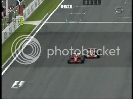 3 últimas vueltas GP F1 Bélgica 2008