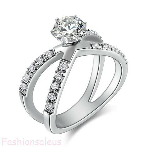 Fashion Stainless Steel 1.25Ct CZ Infinity Ring Women's