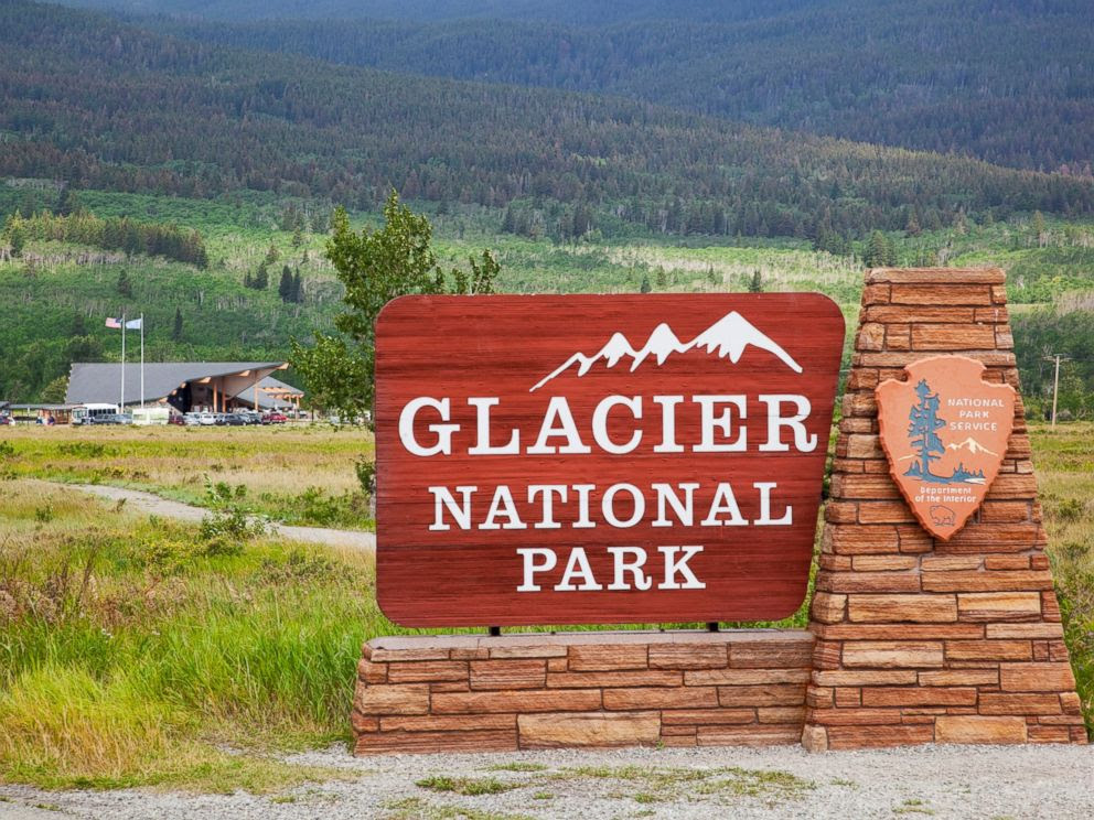 PHOTO: An entrance sign to Glacier National Park in Montana is seen in an undated stock photo.