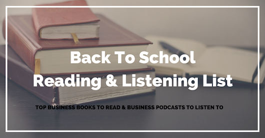 Back To School Reading List | The Common Cents