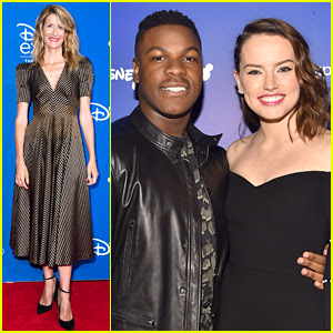Daisy Ridley, John Boyega, & 'Last Jedi' Cast Meet Up at D23!