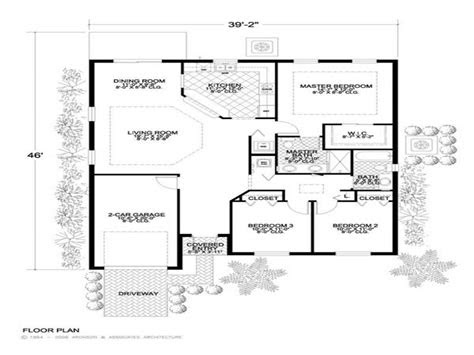 small concrete block house plans simple concrete home