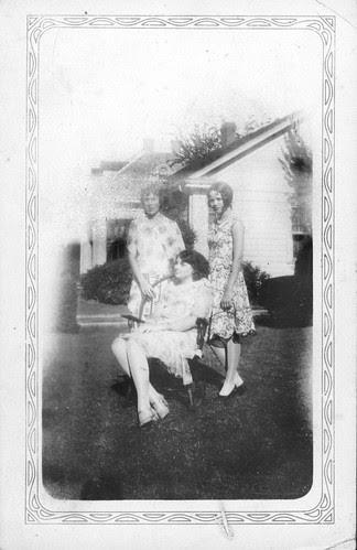 Three girls in the yard
