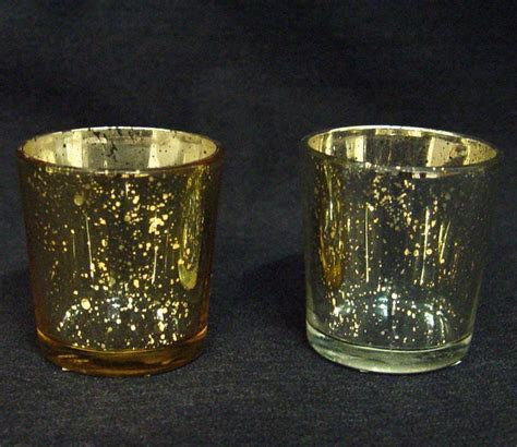Gold or Silver Tapered Votive Candle Holder, Cheap Votive