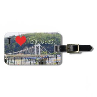 Erzsebet Bridge I heart Budapest Luggage Tags