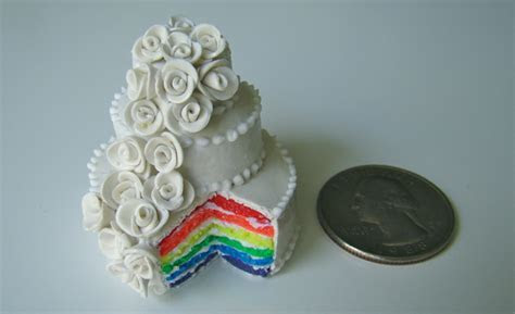 The World's Tiniest Rainbow Wedding Cake