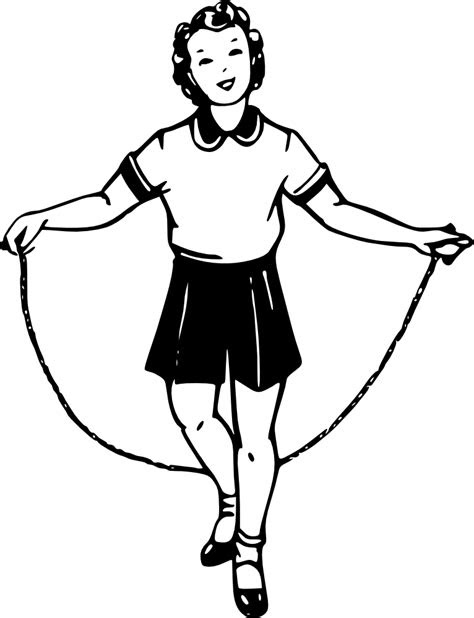 Playing Jump Rope - Cliparts.co