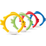 Intex Diving Swimming Pool Kids Toy Play Underwater Fish Rings Sticks, 4 Pack by VM Express