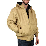 Freeze Defense Men's Fleece Lined Quilted Winter Jacket Coat (Small, Khaki)