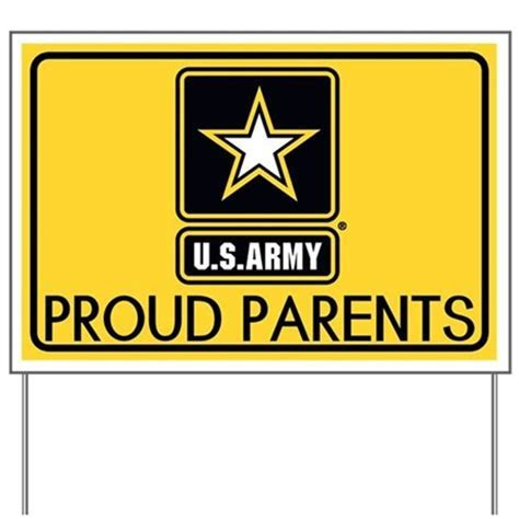 U.S. Army: Proud Parents (Gold) Yard Sign by World Flags