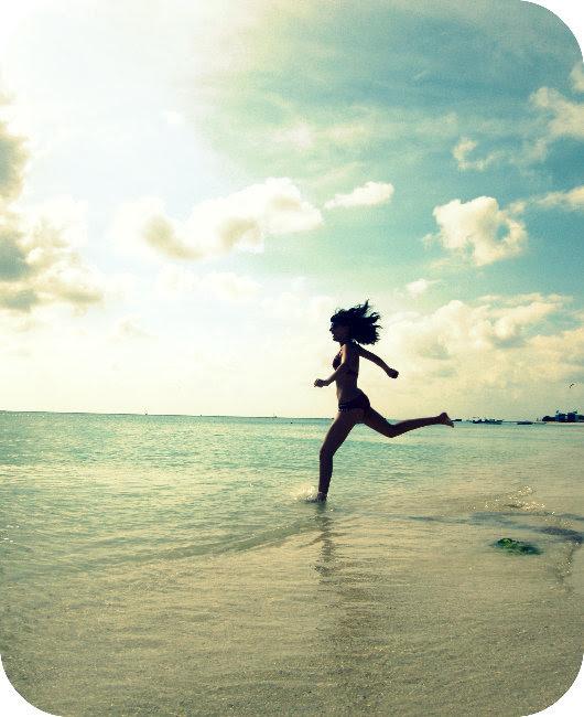 beach, blue, cute, girl, jump
