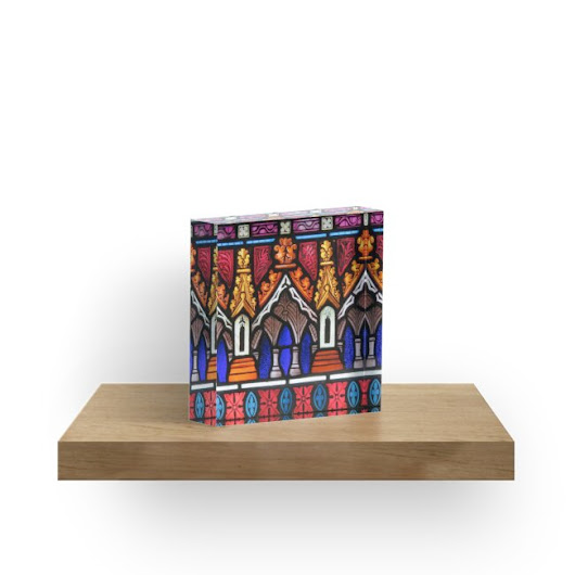 'Into the Cloisters' Acrylic Block by Aakheperure